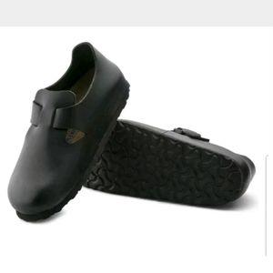 NEW Black Birkenstock London Soft Footbed Shoes 35